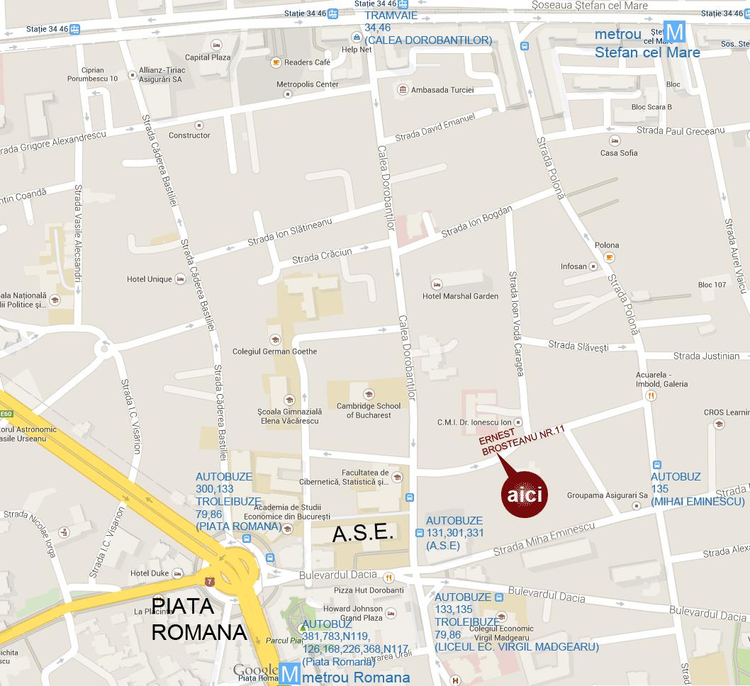 Harta orientare Reflex Architecture SRL Bucuresti